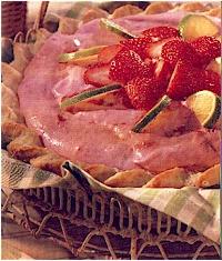 Pies - Fluffy Strawberry Margarita Pie